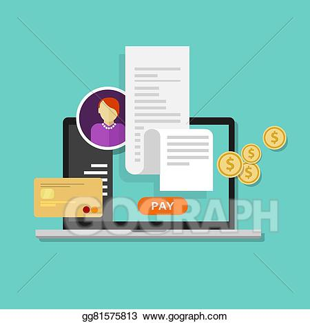 Clipart bill online royalty free stock Vector Art - Pay Bills Tax Online Receipt #466547 - Clipartimage.com royalty free stock