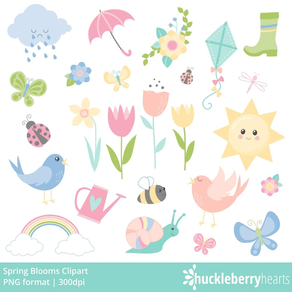 Blooms clipart clip freeuse Spring Blooms Clipart clip freeuse
