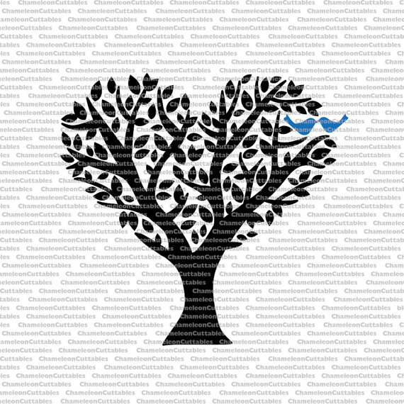 Clipart birds tree svg jpg download Birds in Tree svg cut files vector decal clipart love jpg download