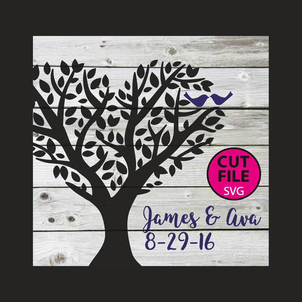 Clipart birds tree svg banner library library Family tree svg | Etsy banner library library