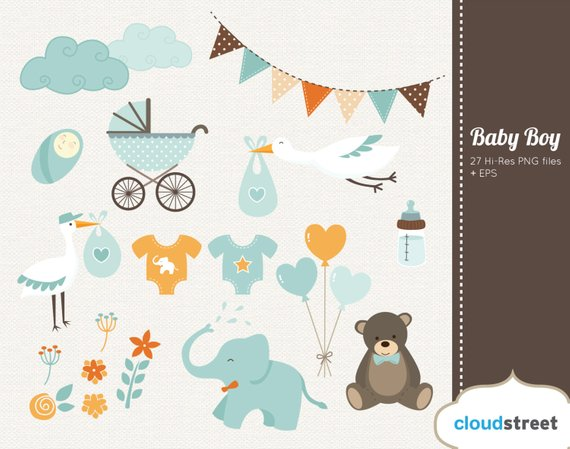 Clipart birth announcement png royalty free download BUY 2 GET 1 FREE baby boy clipart - baby shower & birth announcement ... png royalty free download