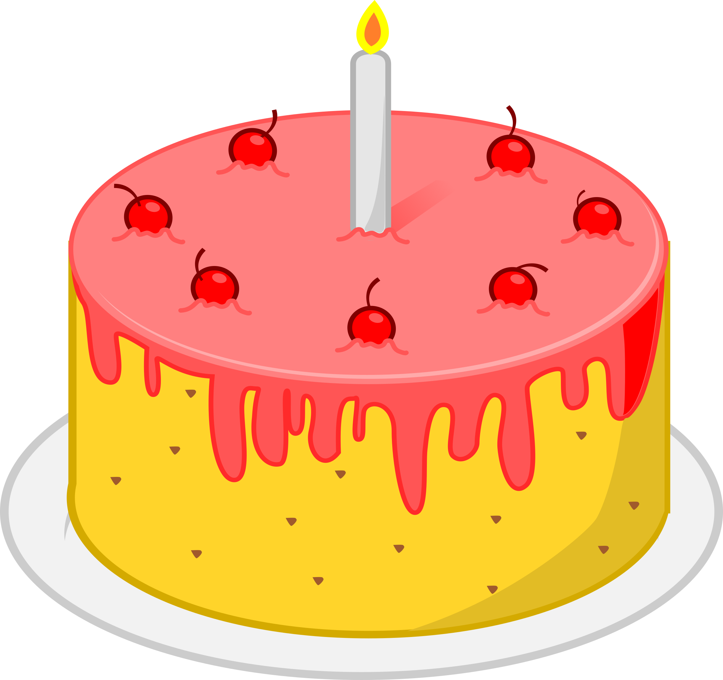 Clipart birthday cake png library Clipart - Birthday Cake png library