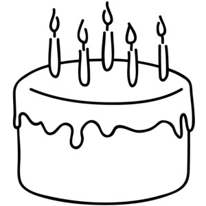 Clipart birthday cake picture transparent download Free clipart birthday cake black and white - ClipartFest picture transparent download