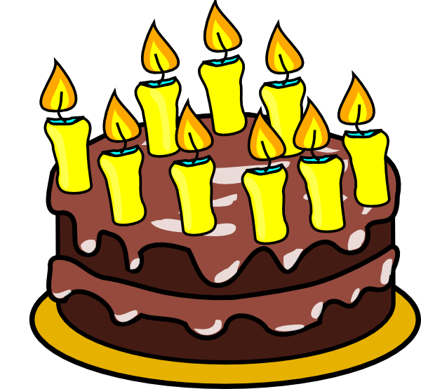 With lots of candles. Clipart birthday cake animated