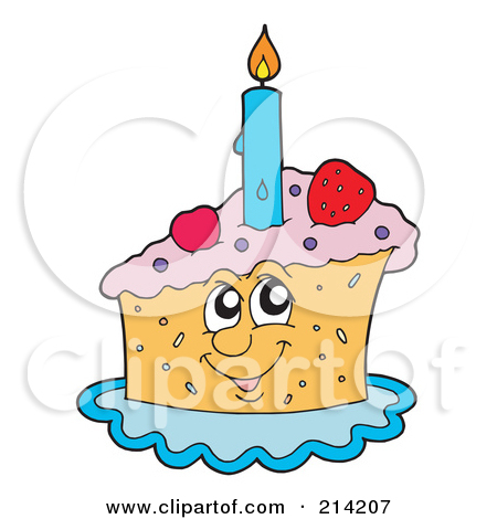 Royalty free rf illustration. Clipart birthday cake slice