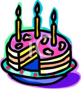 Clipart birthday cake slice png free stock Art Image: A Birthday Cake Missing a Slice png free stock
