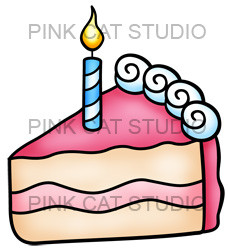 best images about. Clipart birthday cake slice