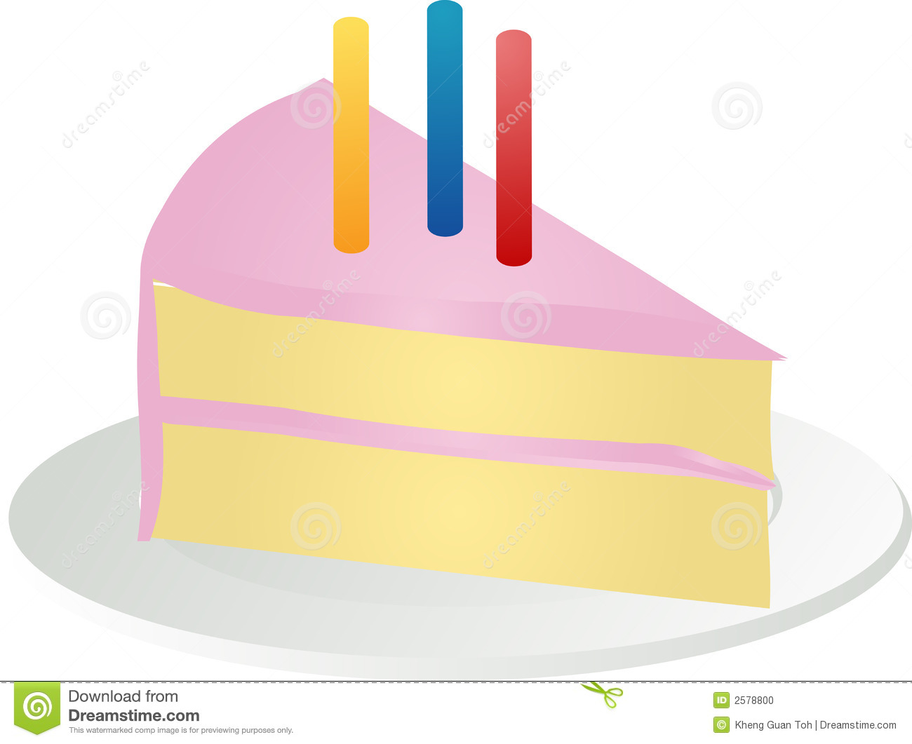 Clipart birthday cake slice vector library library Slice Of Birthday Cake Stock Photo - Image: 2578800 vector library library