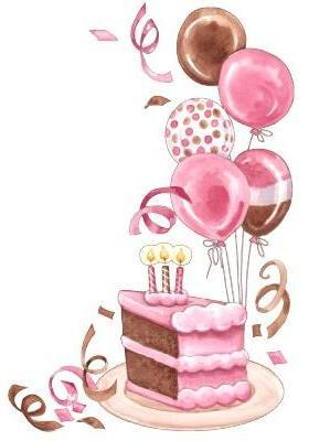 Clipart birthday cake slice png royalty free download Birthday Cake And Balloons Clipart - Clipart Kid png royalty free download