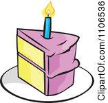 Clipart birthday cake slice vector transparent stock Birthday Cake Slice Clipart | Clipart Panda - Free Clipart Images vector transparent stock