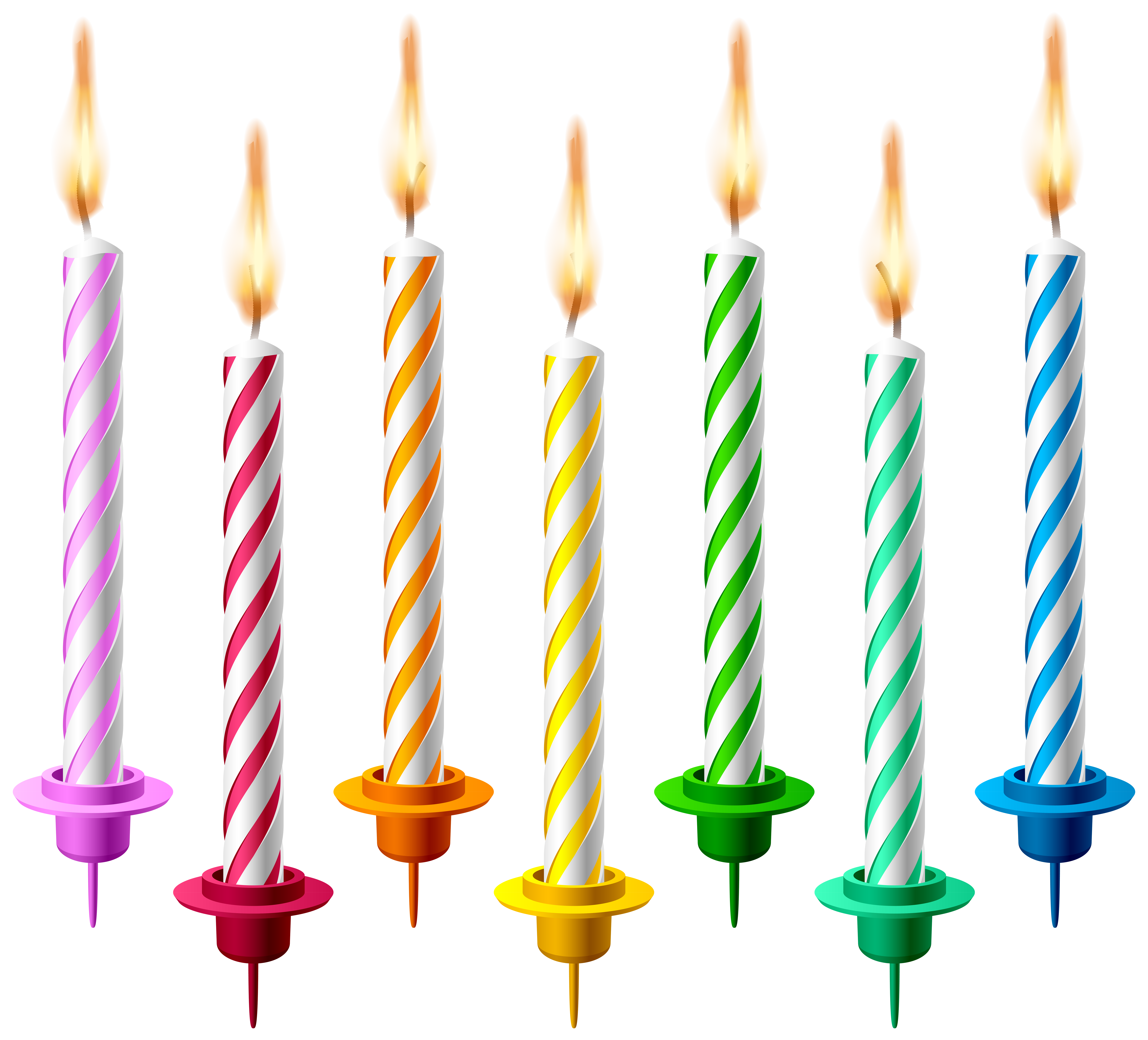 Birthday candle clipart animated clipart black and white download Birthday Candles PNG Transparent Clip Art Image clipart black and white download