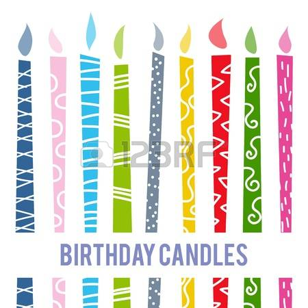 Clipart birthday candle banner black and white 34,936 Birthday Candle Stock Vector Illustration And Royalty Free ... banner black and white