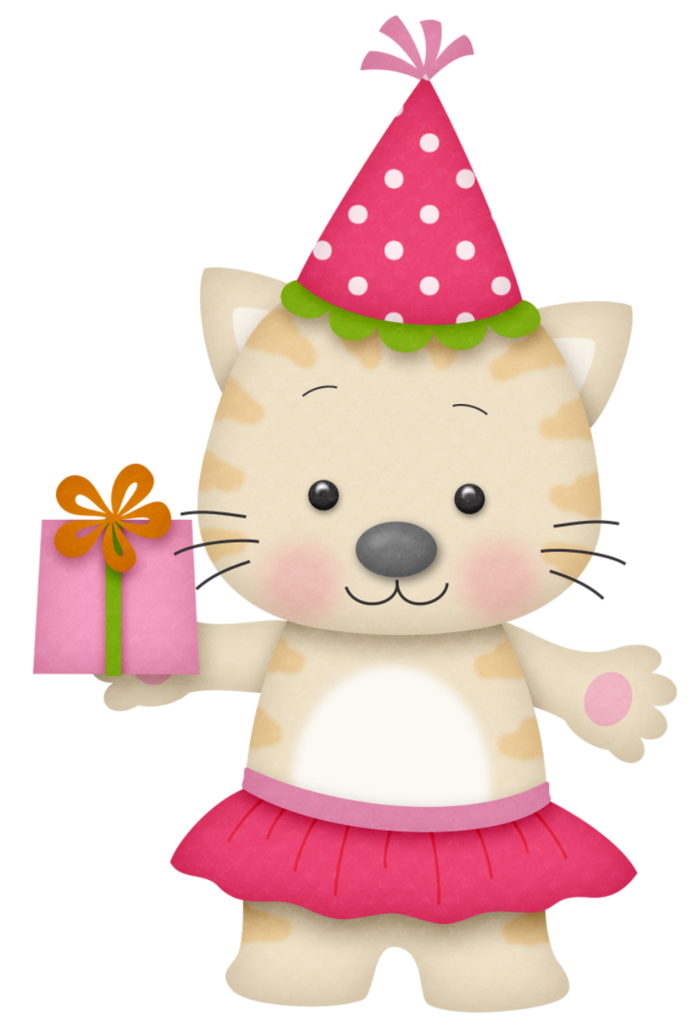 Library of jpg freeuse download birthday cat png files ... (690 x 1024 Pixel)