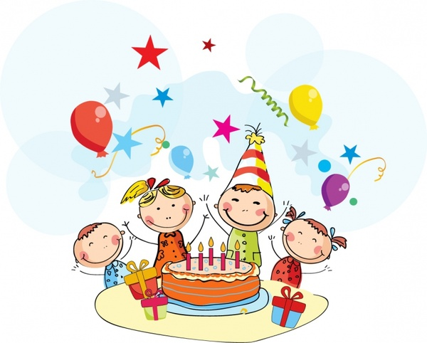 Clipart birthday party pictures picture black and white download Free Birthday Party Clip Art, Download Free Clip Art, Free Clip Art ... picture black and white download