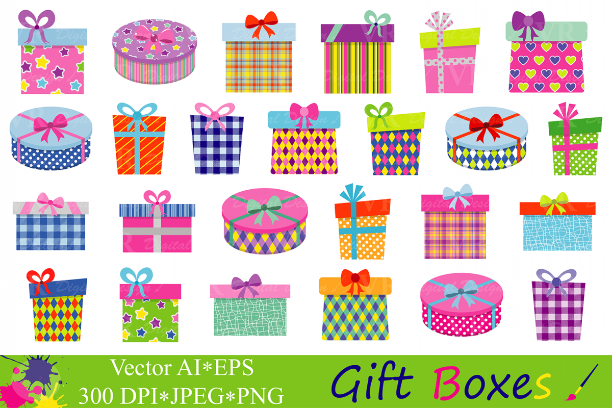 Clipart birthday party pictures svg free library Gift Boxes Clipart Birthday Party Presents Clip Art Gifts vector graphics  Present illustrations svg free library