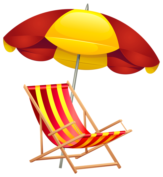 Tropical sun clipart free svg library Beach Chair and Umbrella PNG Clip Art Image | SUMMER FUN ... svg library