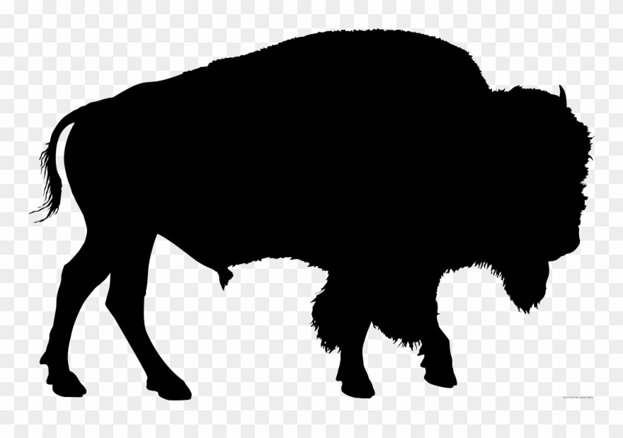 Native american buffalo clipart free silhouette vector library Clip Art Animal Bison American Drawing - Buffalo Silhouette - Png ... vector library