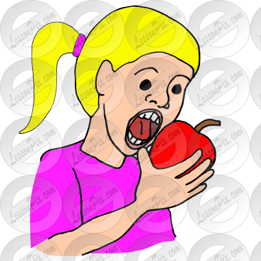 Clipart bite vector black and white library Bite Picture for Classroom / Therapy Use - Great Bite Clipart vector black and white library