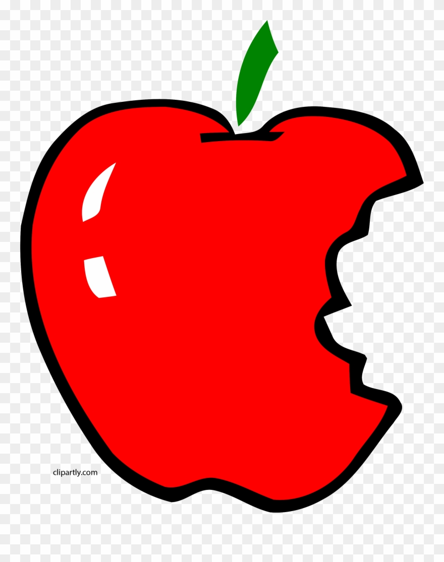 Apple clipart with a bite vector transparent stock Apl Bite Apple Clipart Png - Bitten Apple Clip Art Transparent Png ... vector transparent stock