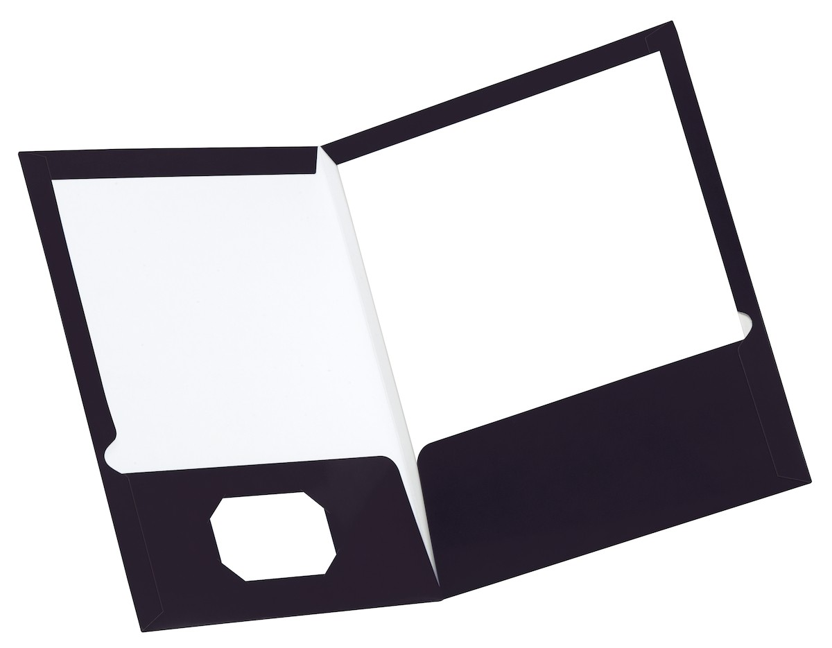 Clipart black and white a hole in the pocket graphic freeuse Laminated Two Pocket Portfolio, Black, 25 Pack graphic freeuse