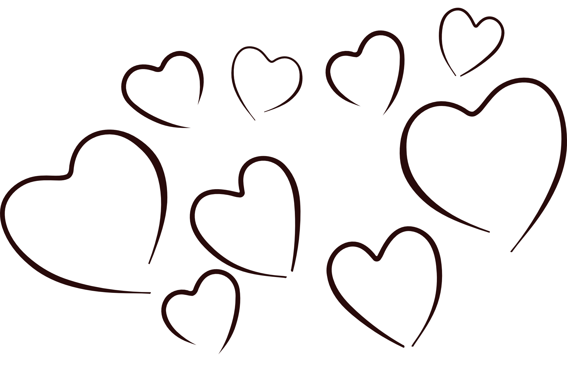 Clipart black and white animals forming hearts png black and white Big Heart Images Clipart | Free download best Big Heart Images ... png black and white