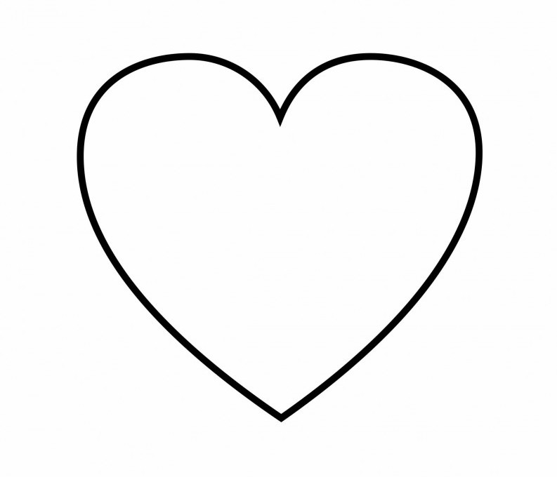 Clipart black and white animals forming hearts image black and white library Animals: Heart Simple Shapes Easy Coloring Pages For Toddlers Id ... image black and white library