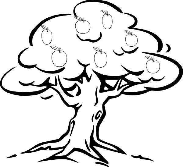 Clipart black and white apple tree in s clip freeuse Apple Tree Clip Art at Clker.com - vector clip art online, royalty ... clip freeuse
