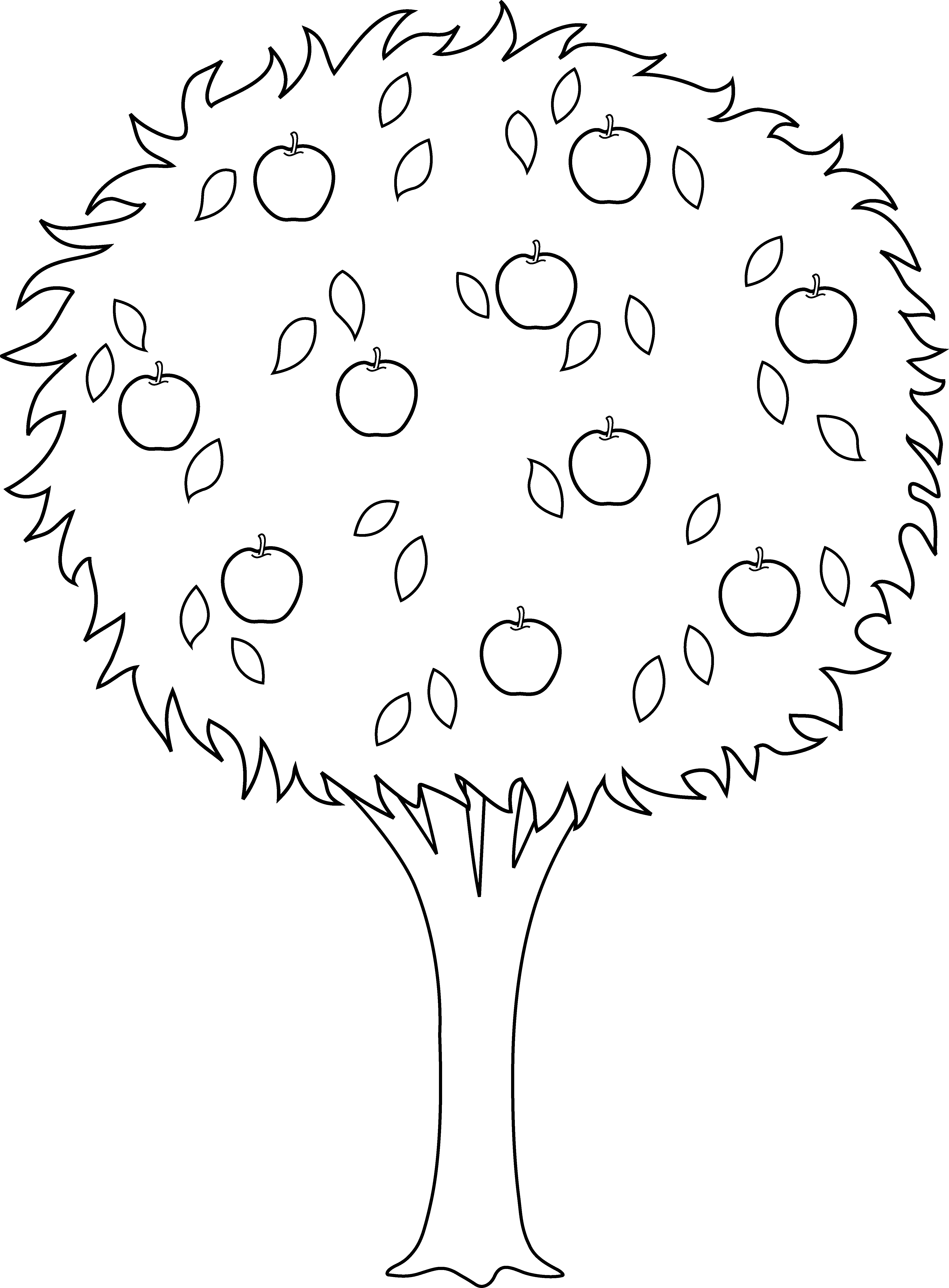 Clipart black and white apple tree in s vector free Apple Tree Clipart Black And White (101+ images in Collection) Page 1 vector free