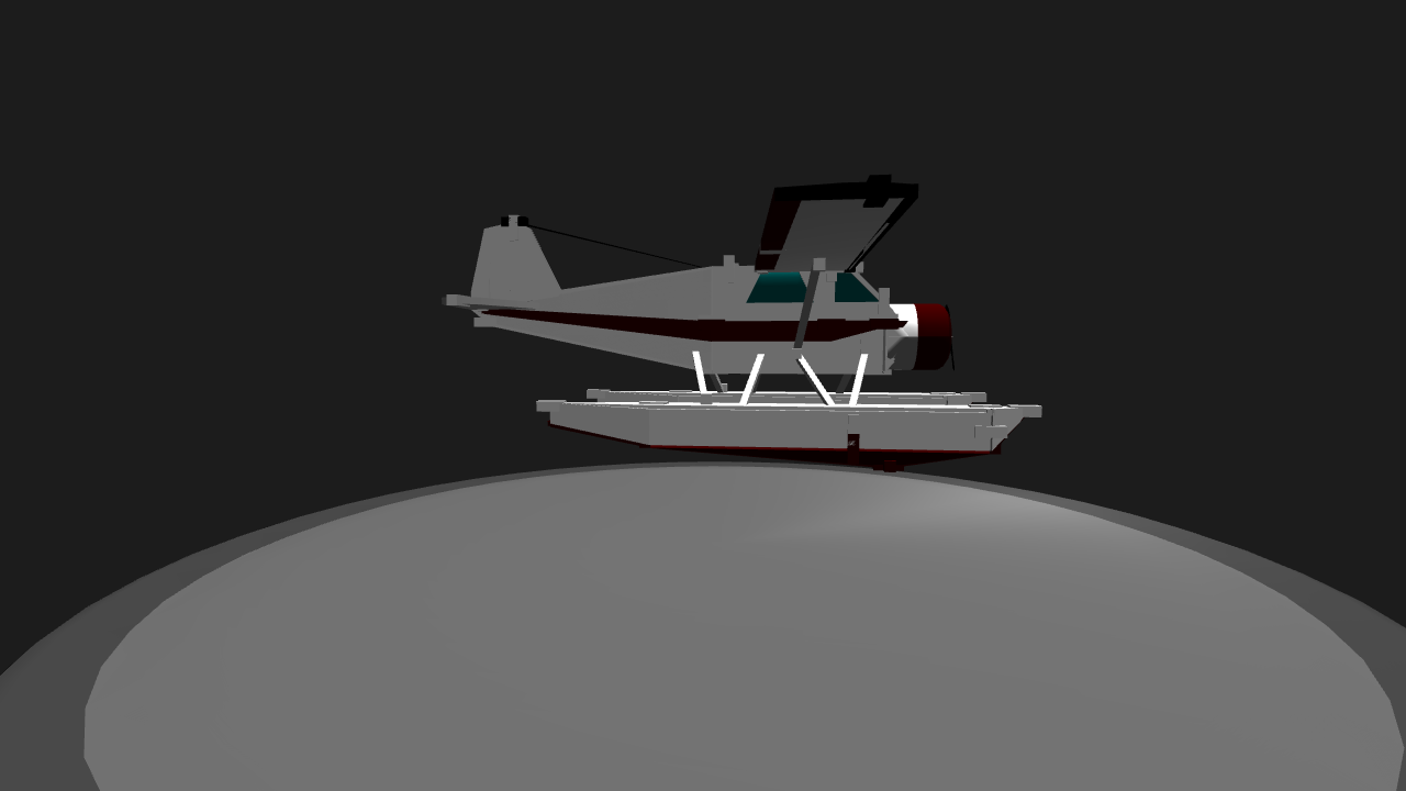 Clipart black and white beaver floatplane
