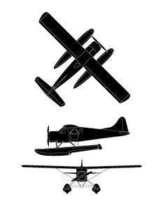 Clipart black and white beaver floatplane jpg transparent stock 43 Best Seaplane images in 2016   Float plane, Plane, Sea plane jpg transparent stock