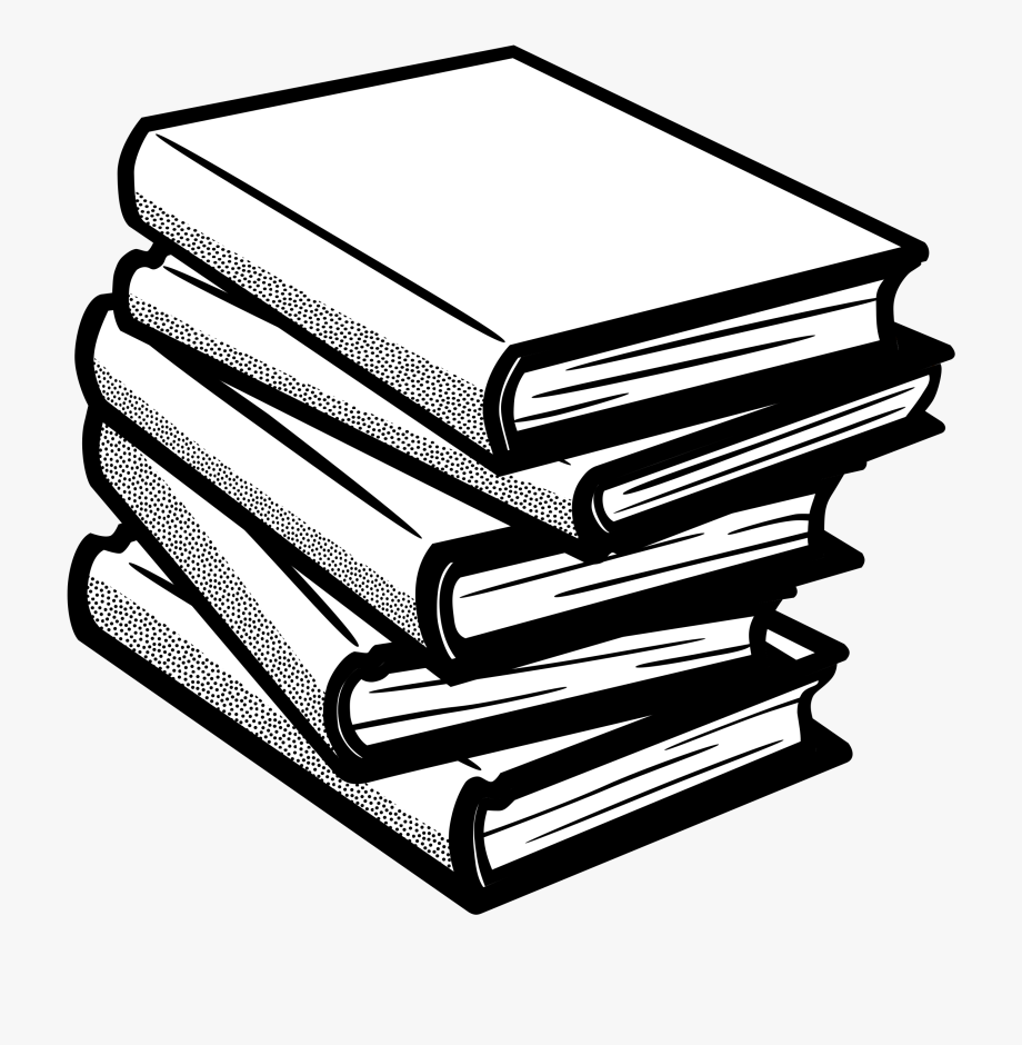 Clipart black and white books picture royalty free download Book Clipart - Clip Art Black And White Books , Transparent Cartoon ... picture royalty free download