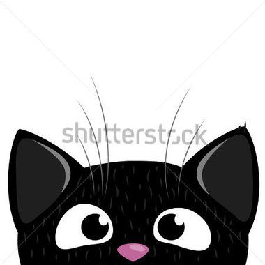 Clipart black and white cat looking through fence jpg royalty free library Peeking Out Curious Cat stock vector - Clipart.me | templates | Cat ... jpg royalty free library