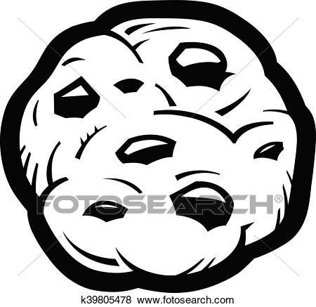 Clipart black and white chocolate chip cookie picture black and white stock Chocolate chip cookie clipart black and white 5 » Clipart Portal picture black and white stock