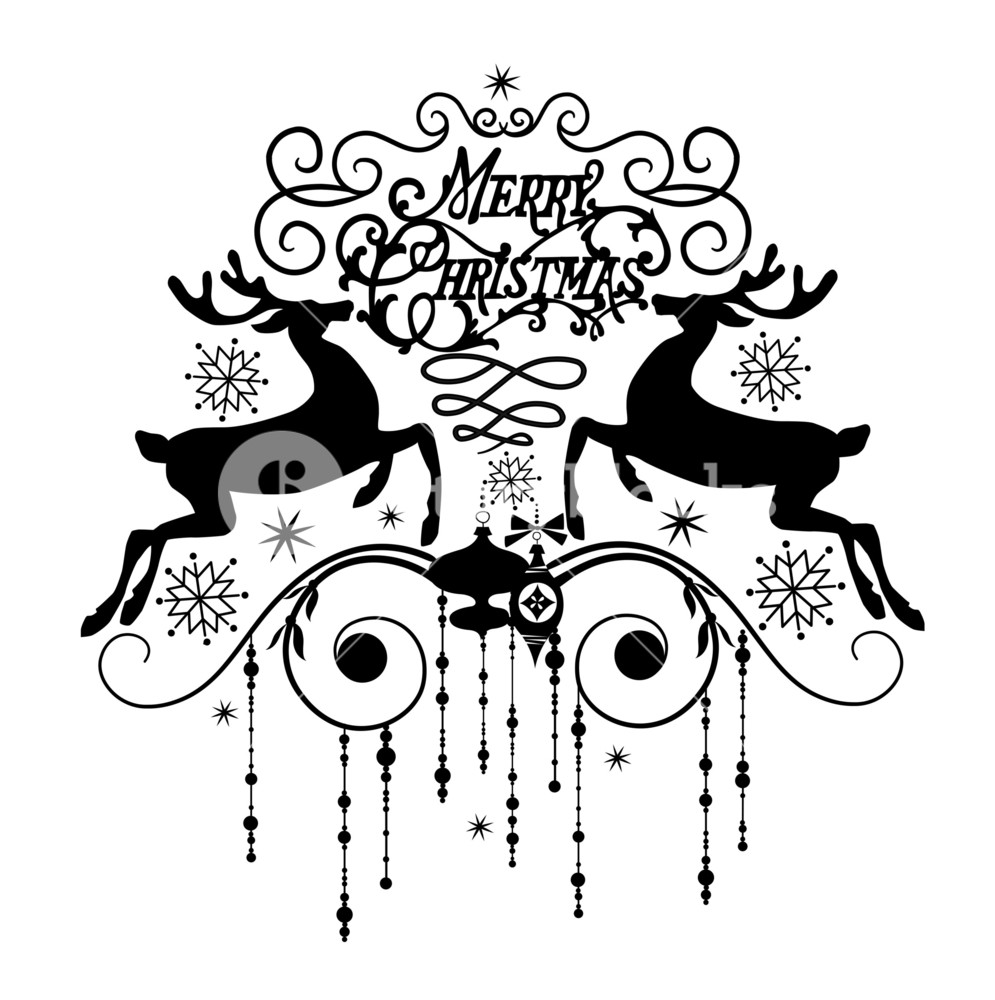 Clipart black and white christmas card image free stock Black And White Christmas Card Royalty-Free Stock Image ... image free stock