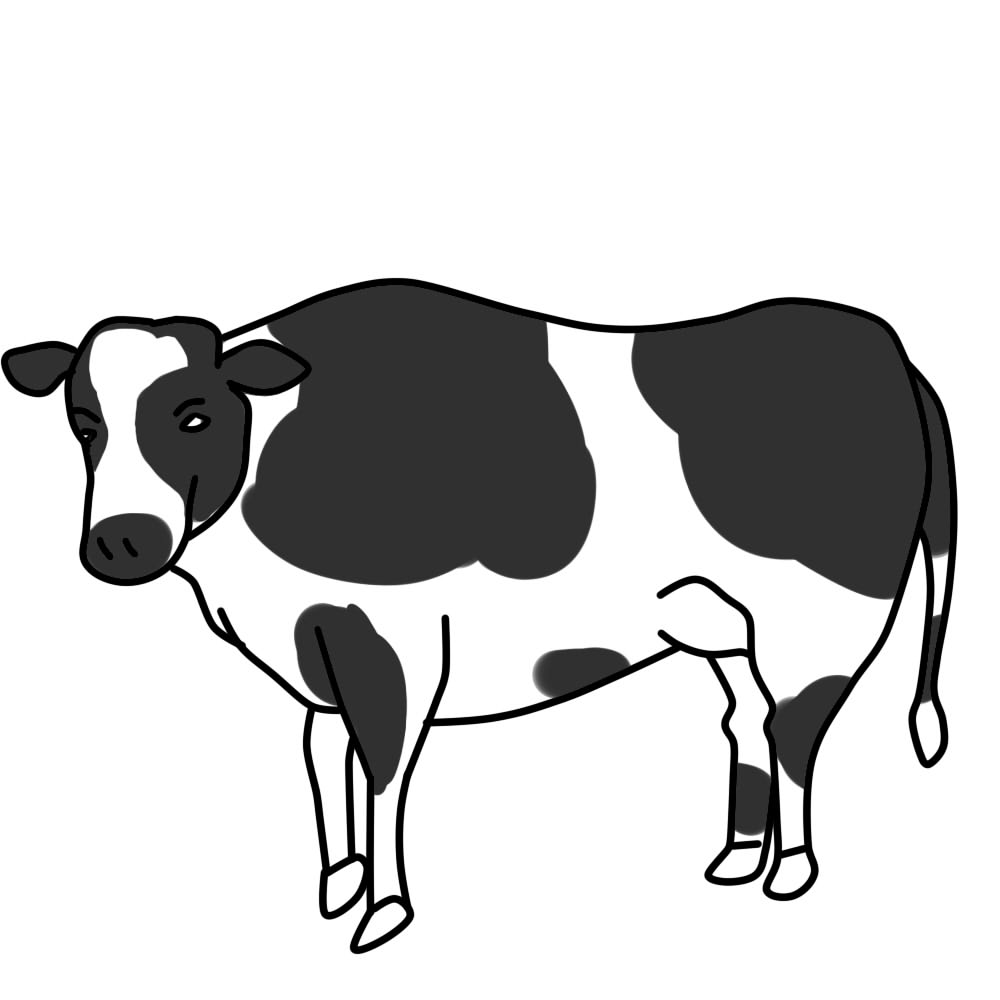Clipart fat cows skinny cows black and white graphic library stock 7+ Cow Clipart Black And White | ClipartLook graphic library stock