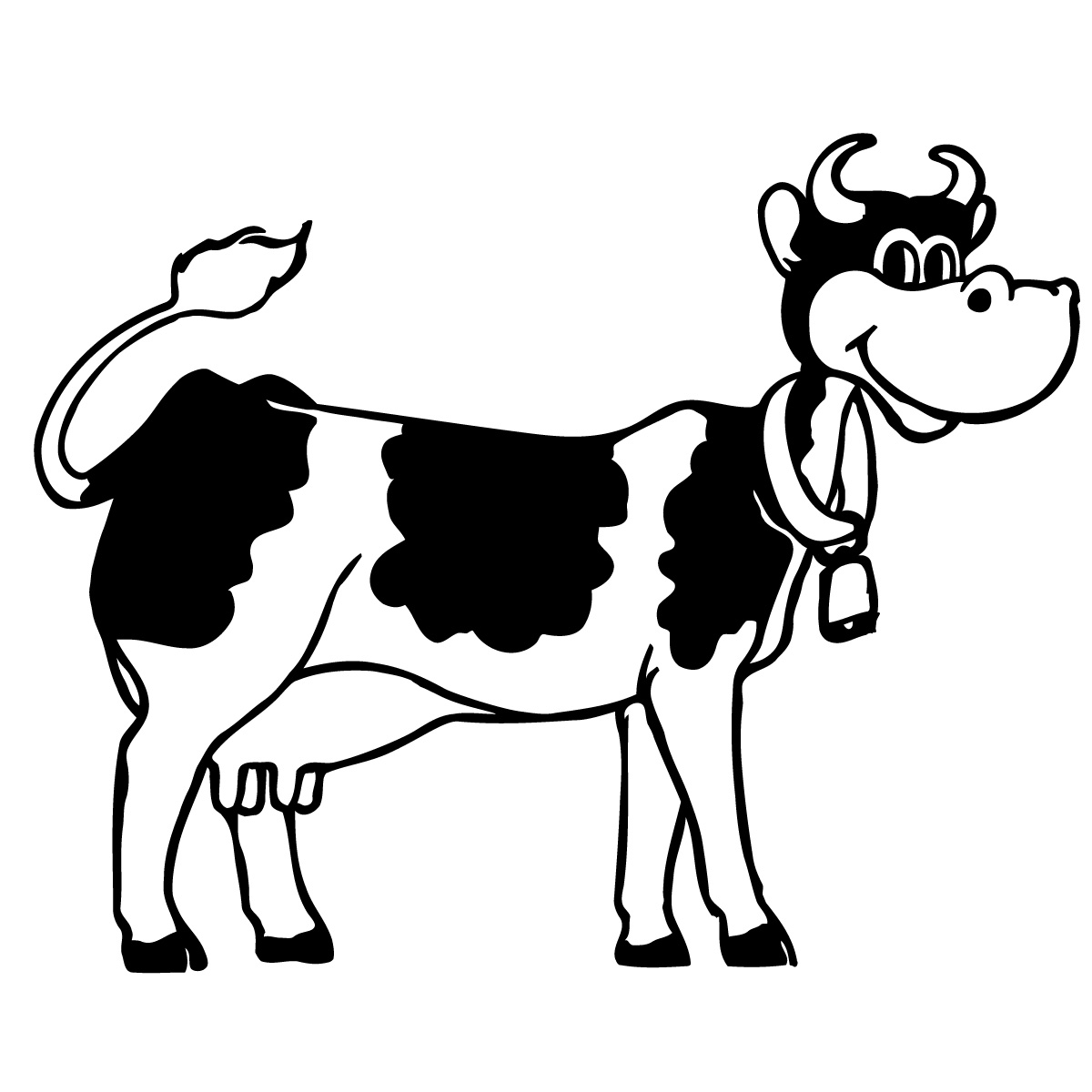 Clipart fat cows skinny cows black and white clipart black and white library Cow Clipart Black And White | Clipart Panda - Free Clipart Images clipart black and white library