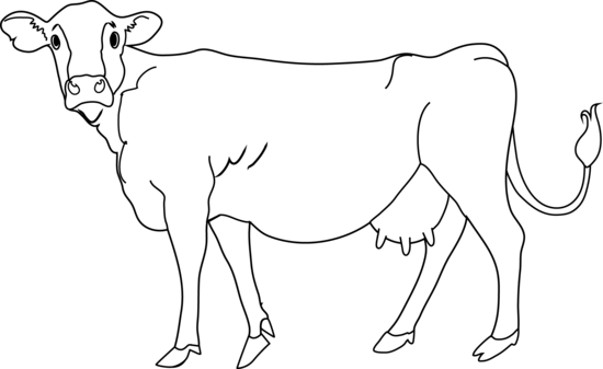 Clipart black and white cow vector black and white 103+ Cow Clipart Black And White | ClipartLook vector black and white