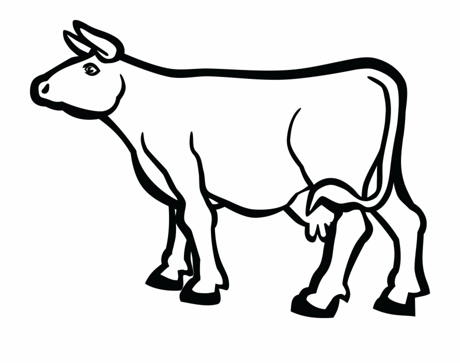 Clipart black and white cow jpg black and white download Free Cow Clipart Black And White - Cartoon Cow No Background ... jpg black and white download