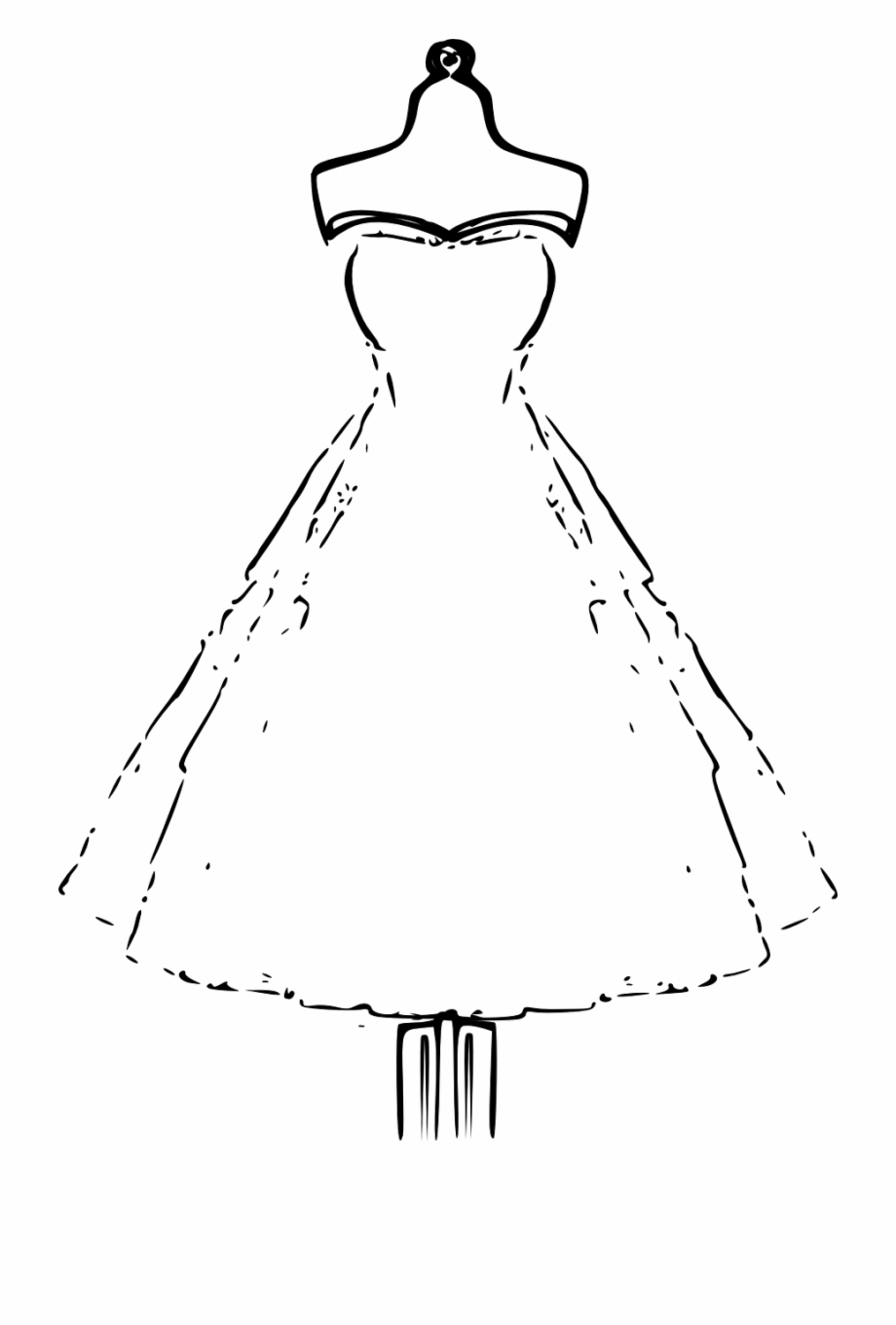 Clipart black and white dress jpg freeuse library Bridal Dress Mannequin Wedding Png Image - Black And White Dresses ... jpg freeuse library
