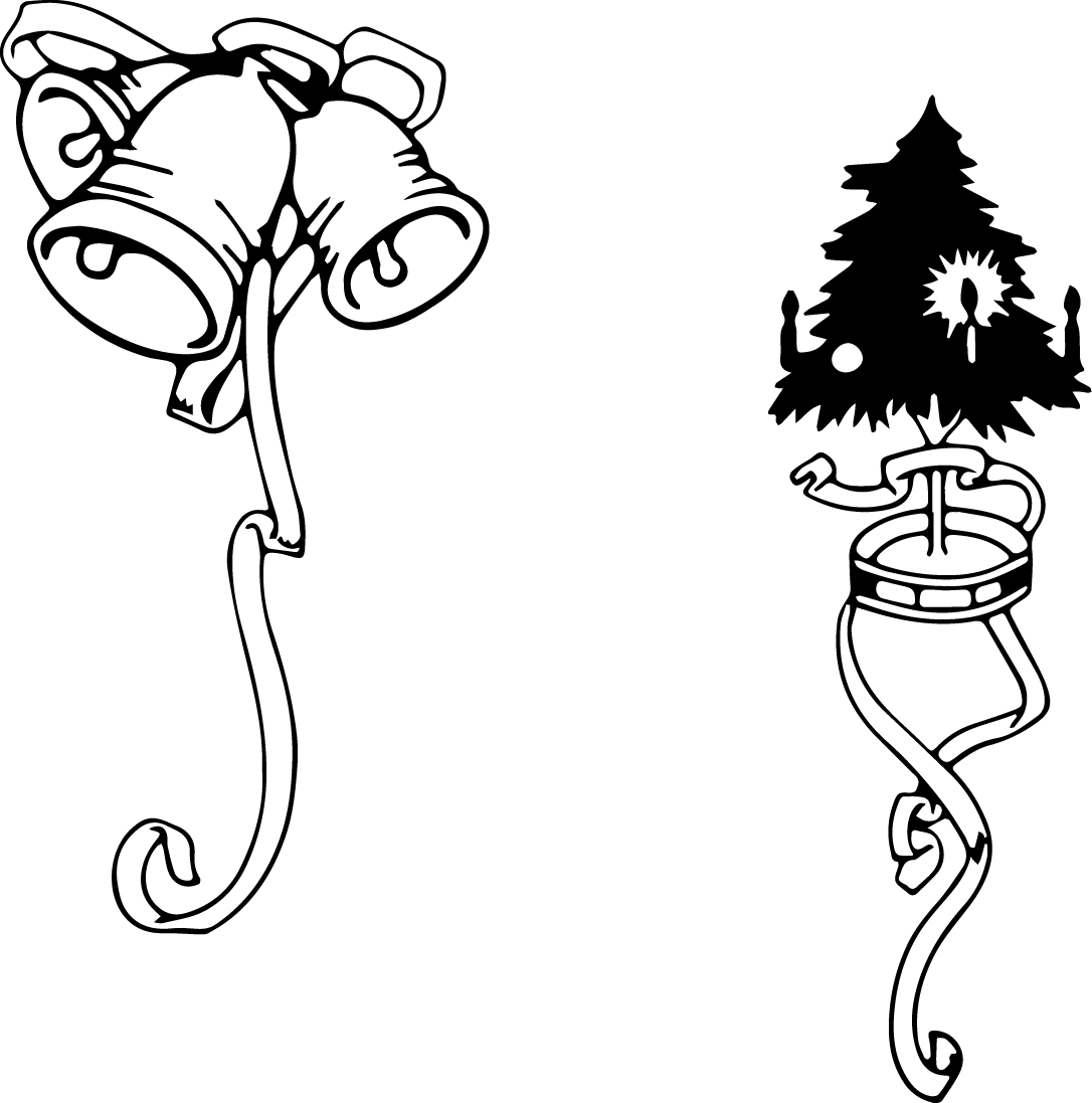 Clipart black and white fancy border christmas lights banner black and white stock Free Black And White Christmas Borders, Download Free Clip Art, Free ... banner black and white stock