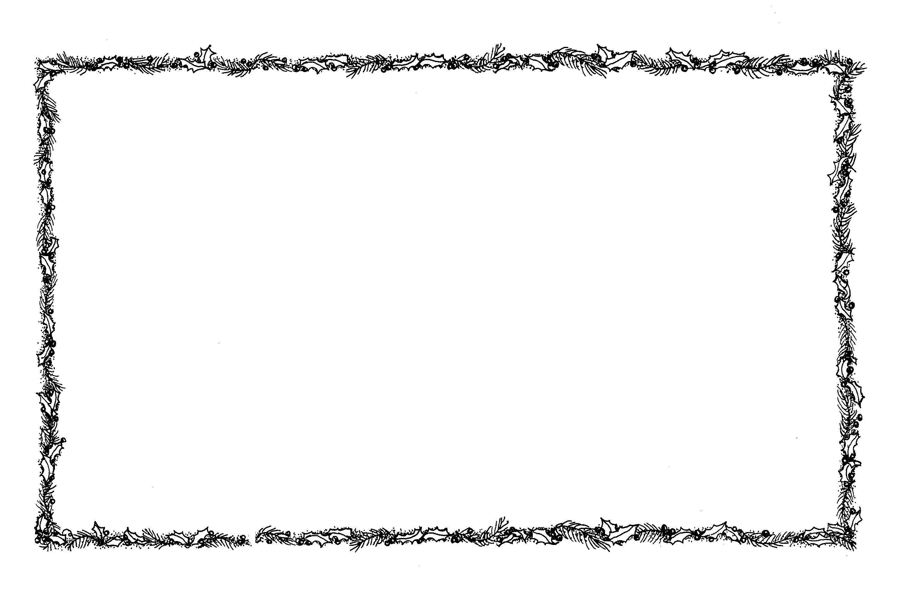 Clipart black and white fancy border christmas lights jpg royalty free library Branch Border - ClipArt Best | DIY | Christmas border, Xmas ... jpg royalty free library