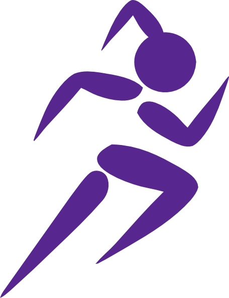Clipart woman running image freeuse stock Free Clip Art Running Woman | Girl Running Purple clip art | Girl ... image freeuse stock
