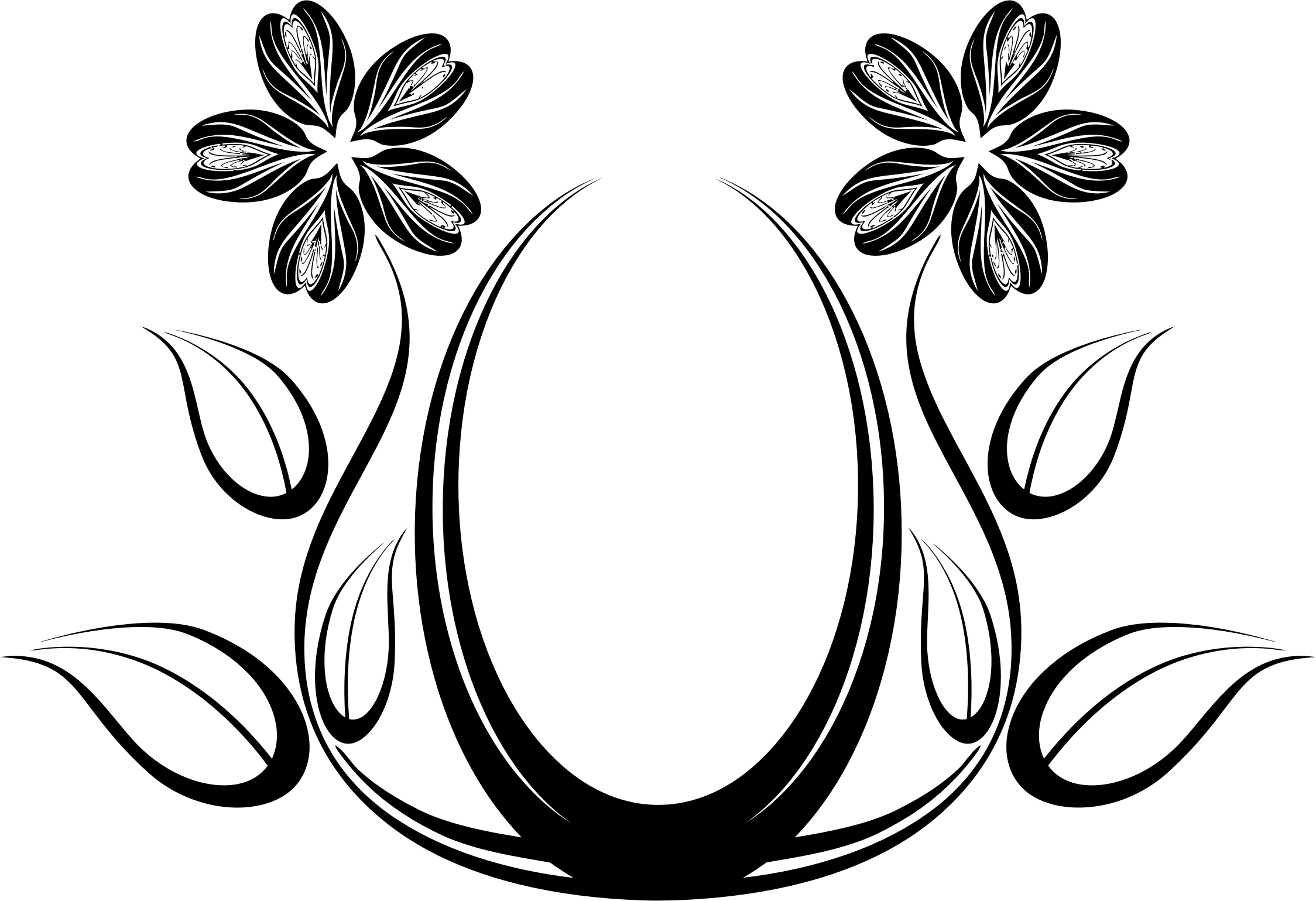 Clipart black and white flower design jpg black and white download Silhouette Flower Designs at GetDrawings.com | Free for personal use ... jpg black and white download