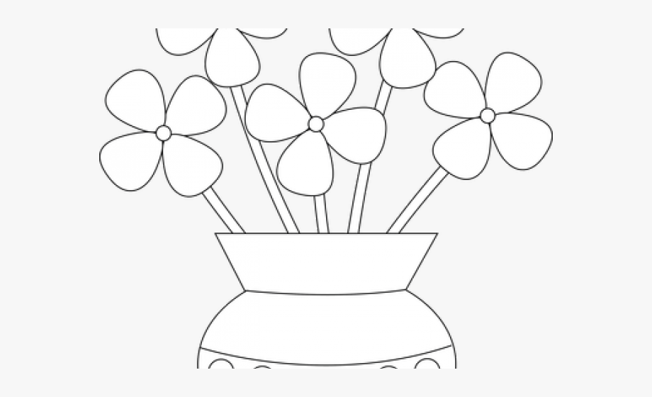 Clipart black and white flowers in a vase clip art transparent stock Vase Clipart Outline Flower - Clip Art #865873 - Free Cliparts on ... clip art transparent stock