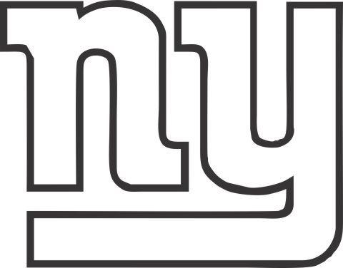 Clipart black and white giants logo