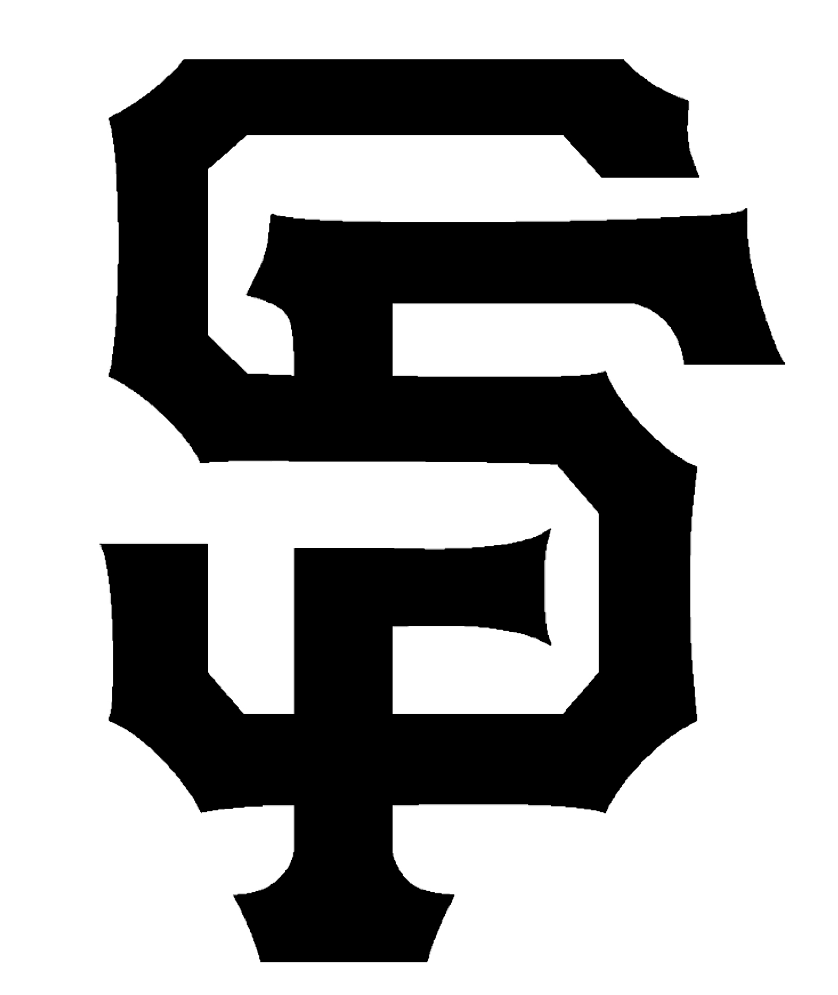 Clipart black and white giants logo banner royalty free library San Francisco Giants Stencils | Stencil Revolution banner royalty free library