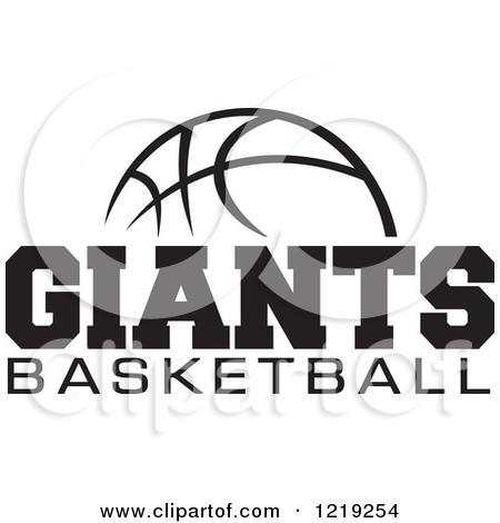 Clipart black and white giants logo svg black and white library Clipart of a Black and White Ball with GIANTS BASKETBALL Text ... svg black and white library