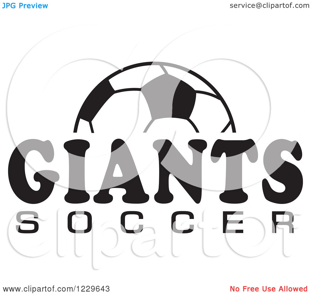 Clipart black and white giants logo graphic black and white library Clipart of a Black and White Ball and GIANTS SOCCER Team Text ... graphic black and white library