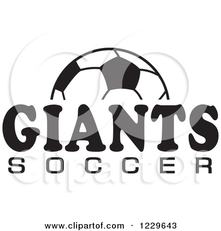 Clipart black and white giants logo banner free stock Clipart of a Black and White Ball and SOCCER Text - Royalty Free ... banner free stock