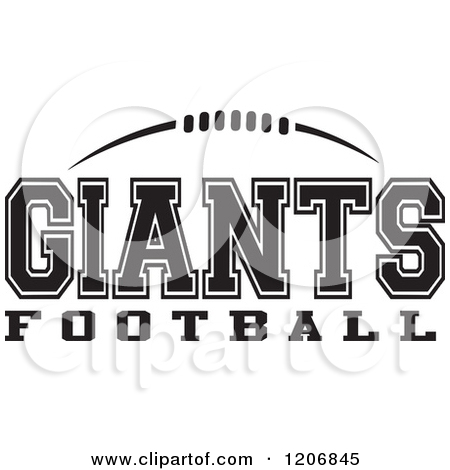 Clipart black and white giants logo clip art royalty free stock Clipart of a Black and White American Football and GIANTS Football ... clip art royalty free stock